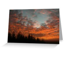 Rivington Sunset Greeting Card