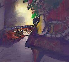 ORANGE CAT IS SLEEPING(digital)(2011) by Paul Romanowski