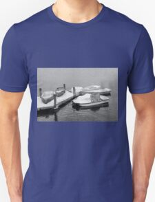 Boats New England Winter Time  T-Shirt