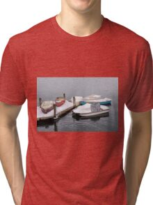 Boats New England Winter Time Tri-blend T-Shirt