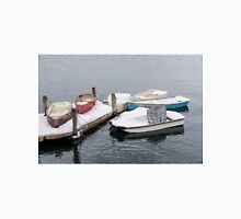Boats New England Winter Time Unisex T-Shirt