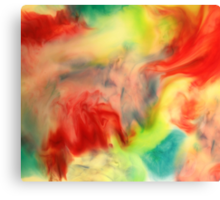 Smudge Paint Abstract #3 Canvas Print