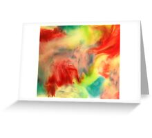 Smudge Paint Abstract #3 Greeting Card