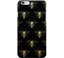Bees? (Metallic Gold on Black) iPhone Case/Skin