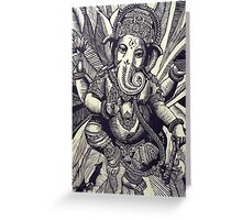 Ganesha Woodcut Greeting Card