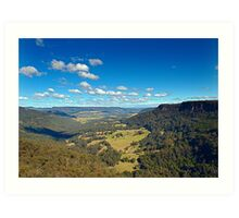 Hindmarsh Lookout - Kangaroo Valley, NSW Art Print