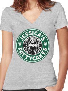 Jessica's Pattycakes Women's Fitted V-Neck T-Shirt