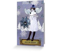 Velvet Snow Greeting Card