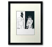DEATH GRIPS THE MONEY STORE Framed Print