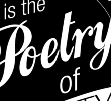 Science Poetry of Reality (mugs) Sticker