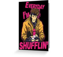 Master Shuffler Redux Greeting Card