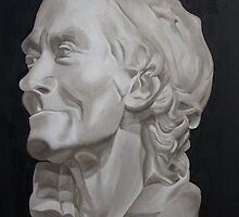 Voltaire Bust Painting by Nicola Clement