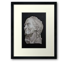 Voltaire Bust Painting Framed Print