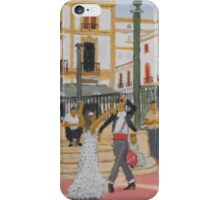 Dancing in The Plaza - Ronda Spain iPhone Case/Skin