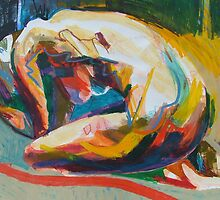 Crouching Clutching Figure(Abstract) by Josh Bowe