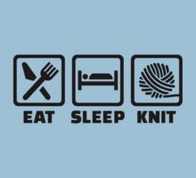 Eat sleep Knit Kids Tee