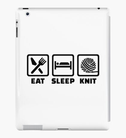 Eat sleep Knit iPad Case/Skin