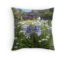 Flowers in Cristal Castle Throw Pillow