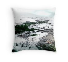 WINTER MOORLAND. Throw Pillow