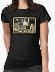 Living in the future past. Womens Fitted T-Shirt