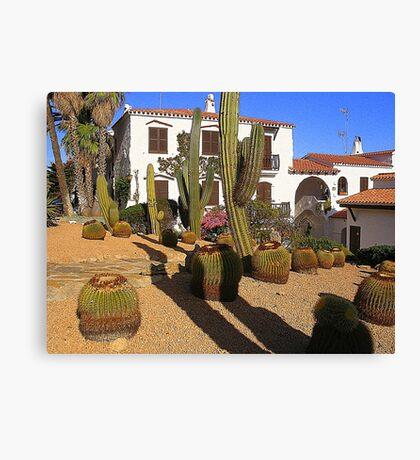 A Garden In Menorca Canvas Print