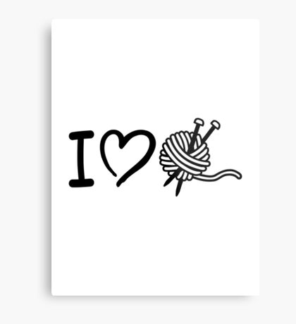 I love wool knitting needles Metal Print