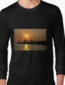 Sunset. Darwin Pier. Long Sleeve T-Shirt
