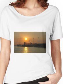 Sunset. Darwin Pier. Women's Relaxed Fit T-Shirt
