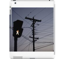 Crosswalk light iPad Case/Skin
