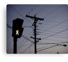 Crosswalk light Canvas Print