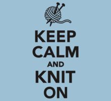 Keep calm and knit on One Piece - Short Sleeve