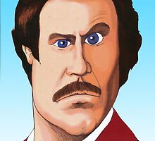 RON BURGUNDY by David Lumley