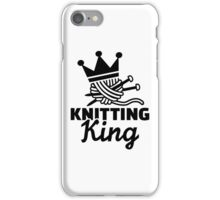 Knitting king iPhone Case/Skin