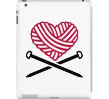 Red wool heart knitting iPad Case/Skin