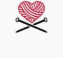 Red wool heart knitting T-Shirt