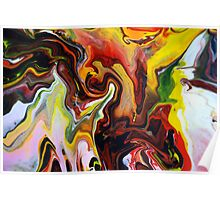 Mark Chadwick - Abstract Fluid Flow Painting Poster