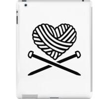 Wool heart crossed needles iPad Case/Skin