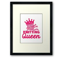 Knitting queen Framed Print