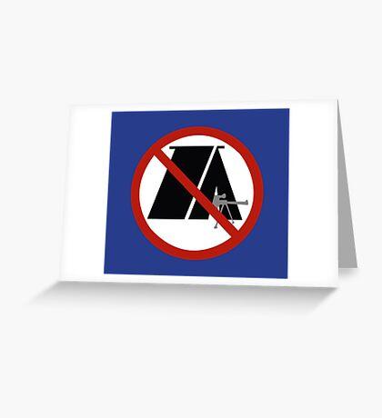 No Camping Greeting Card
