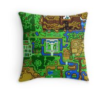 Zelda Link To The Past Map Throw Pillow