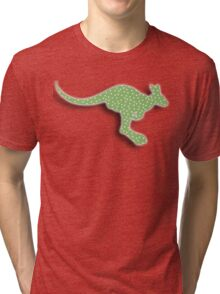 Green Kangaroo Tri-blend T-Shirt