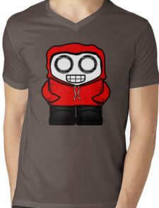 Tim In Red Mens V-Neck T-Shirt