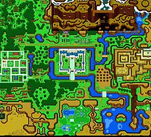 Zelda Link To The Past Map by Dori Designs