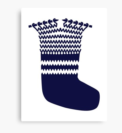 Knitting sock Canvas Print