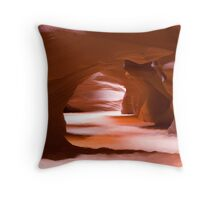 Antelope Canyon Tunnel Throw Pillow