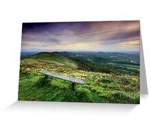 The Malvern Hills: Elgar's Inspiration Greeting Card
