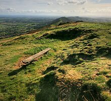 Malvern Hills: Looking South by Angie Latham