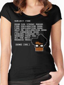 Subject Fire Moss T Shirt Women's Fitted Scoop T-Shirt