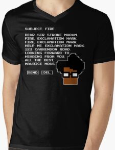 Subject Fire Moss T Shirt Mens V-Neck T-Shirt