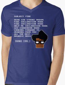 Subject Fire Moss T Shirt Mens V-Neck T-Shirt